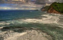 Temps sombre autour d'Hawaï Photographie stock