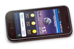 Temps sur le téléphone portable Image libre de droits