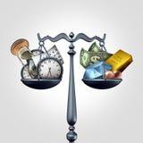 Temps - un argent illustration stock