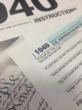 Temps VII d'impôts photo stock