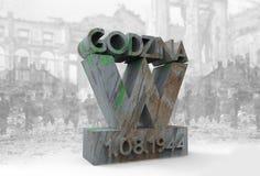 Temps W 1 08 Varsovie 1944 Images libres de droits