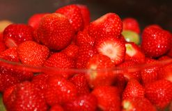 Temptating strawberries Royalty Free Stock Image