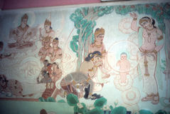 Temptation of Buddha. Fresco at Sarnath,  (Varanasi / Benares) India, Asia Stock Images