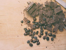 Temptation of chocolate and coffee Royalty Free Stock Photography