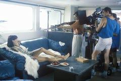 'Temptation' during gun scen. Scene from set of 'Temptation', feature film, Miami, FL Stock Photo