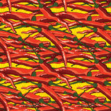 Temptation hot chili red seamless pattern Royalty Free Stock Image