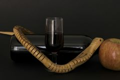 The temptation. Red wine as tentative as the apple offered by the serpent Royalty Free Stock Photography