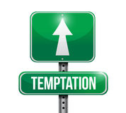 Temptation street sign illustration design. Over a white background Royalty Free Stock Image