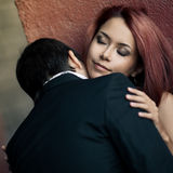 Temptation woman and man Stock Photos