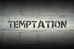 Temptation WORD GR Royalty Free Stock Photography