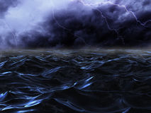 Tempête de mer Images stock