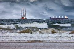 Tempête en mer Image libre de droits