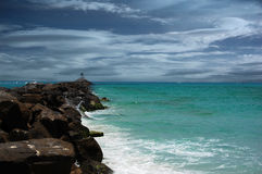 Tempête en mer : Destin, la Floride Photo libre de droits