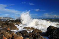 Tempête à la mer Photographie stock libre de droits