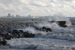 Tempête sur la mer Photos libres de droits
