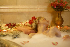 Temptetion in bath Royalty Free Stock Photos