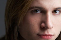 Tempting. Closeup of a young, handsome mans face Stock Photo