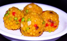 HOME MADE TEMPTING COLORFUL INDIAN SWEET BALLS royalty free stock images