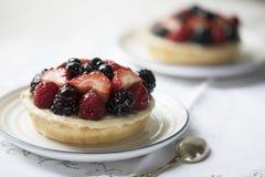 Tempting Mixed Berry Tart. Royalty Free Stock Photos