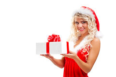 Tempting santa helper Royalty Free Stock Photo