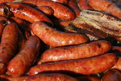 Tempting sausages Royalty Free Stock Image