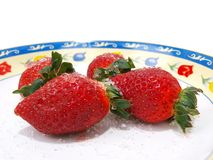 Tempting Strawberries Thirteen Stock Photography