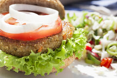 Tempting Veggie Burger Stock Image