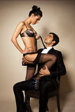 Temptress And Businessman Royalty Free Stock Photo