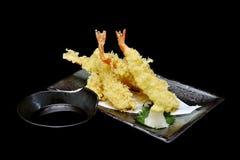 Tempura ή ιαπωνικές τσιγαρισμένες κουζίνα γαρίδες Στοκ εικόνες με δικαίωμα ελεύθερης χρήσης