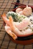 tempura ρυζιού κύπελλων Στοκ φωτογραφίες με δικαίωμα ελεύθερης χρήσης