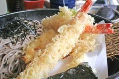tempura улицы soba лапши еды стоковое фото