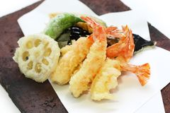Tempura, alimento japonés imagen de archivo libre de regalías