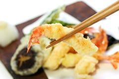 Tempura, alimento japonés imágenes de archivo libres de regalías