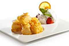 Tempura Camembert Stock Photo