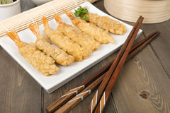 Tempura de crevette rose Photographie stock libre de droits