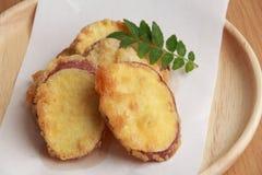 Tempura de patate douce Photographie stock libre de droits