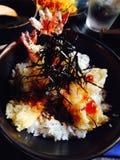 Tempura don. Japanese food,Tempura don Royalty Free Stock Images