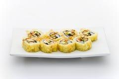tempura för lax för ålfiladelfia varm maky Arkivfoton