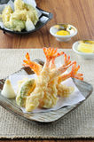Tempura Fried shrimp Japanese style Royalty Free Stock Photography