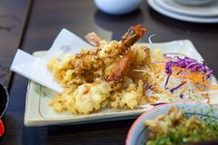Tempura Fried shrimp Royalty Free Stock Images
