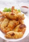 Tempura frito del camarón; Fotos de archivo