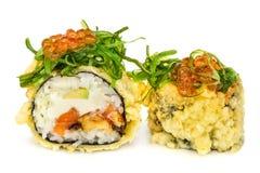 Tempura hot fried sushi maki Stock Photos
