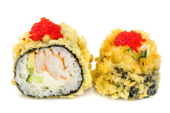 Tempura hot fried sushi maki Royalty Free Stock Photography