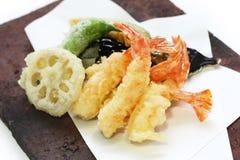 Tempura, japanische Nahrung Lizenzfreies Stockbild