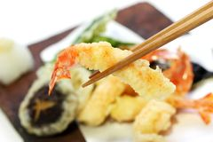 Tempura, japanische Nahrung Lizenzfreie Stockbilder