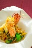 Tempura Lobster Pasta stock images