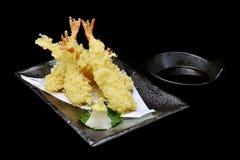Tempura lub japończyka kuchni głębokie smażyć garnele Zdjęcia Stock