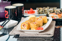 Tempura Maki Sushi Royalty Free Stock Photos