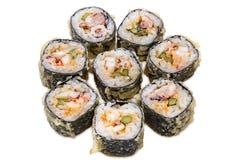 Tempura Maki Sushi. Isolated on white background Royalty Free Stock Images