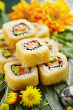 Tempura Maki Sushi Roll Royalty Free Stock Photo